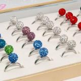 Inel Swarovski - Inel Shamballa cu cristale Swarovski, cutie cadou, inele Shambala, Sambala, Samballa, Chambala, Chamballa rings + cutie cadou