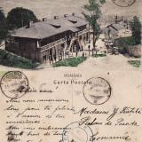 Carti Postale Romania pana la 1904, Circulata, Printata - Bustenari - Locuintele de la Frumosu -Sonde - Prahova