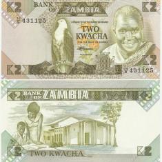 ZAMBIA- 2 KWACHA 1980-88- UNC!! - bancnota africa