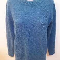 Pulover / bluza elegant(a), marime M; impecabila - Bluza dama, Marime: M, Culoare: Verde, Maneca lunga