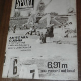 REVISTA SPORT SPORTUL ILUSTRAT  - nr 6/1981 - UNIVERSITATEA CRAIOVA PENTRU A TREIA OARA CAMPIOANA ROMANIEI. STEAUA CAMPIOANA LA HANDBAL SI RUGBY