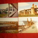 Set 7 Ilustrate Podul Nanking pe Fluviul Yang Tse - China