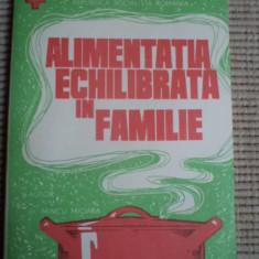 Alimentatia echilibrata in familie societatea de cruce rosie din republica socialista romania - Carte Alimentatie