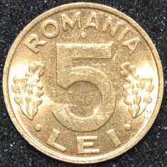 ROMANIA 5 LEI PLACATA CU AUR ANI DIFERITI - Moneda Romania