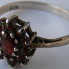 Inel vechi din argint cu pietre (carneol?) (4) - de colectie