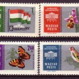 "Ungaria 1961 Expoz.Filat ""Budapesta-61""-fond argintiu - Timbre straine"
