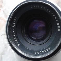 Vand obiective foto, pt colectie, germania, DDR, anii 80, PANCOLAR AUTO 1.8/50, CARL ZEISS JENA DDR - Parasolar Obiectiv Foto, Filet