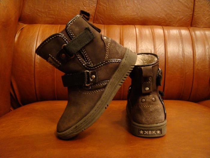 Cizme Baren Schuhe K8K Limited Edition din piele de caprioara marimea 25 foto mare