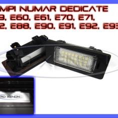 Leduri auto ZDM - SET LAMPI DEDICATE BMW E39, E60, E61, E70, E71, E82, E90, E91, E92 - LAMPA PLACUTA NUMAR INMATRICULARE - 24 LED LEDURI SMD - CULOARE ALB XENON 6000K