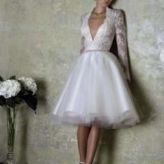 Rochie de Mireasa Bien Savvy French Love - Rochie scurta de mireasa
