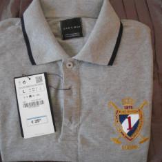 Zara Man Original - Tricou barbati Zara, Marime: L, Culoare: Gri, Maneca scurta