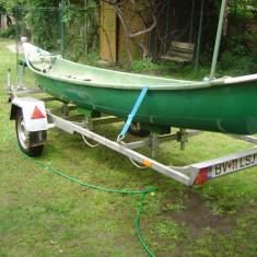 Barca cu motor, Particular - Vand barca fibra de sticla tip caiac+peridoc inmatriculat