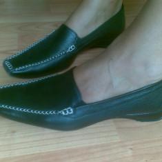Pantofi mocasini din piele firma Paul Green marimea 39, sunt noi! - Mocasini dama Paul Green, Culoare: Negru