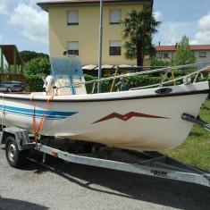 Barca cu motor, An fabricatie: 1992, Exterior, Benzina, Numar motoare: 1, Fibra de sticla - Vind barca Gabbiannella 520 cu motor 25cp in doi timpi