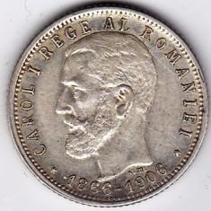 Monede Romania, An: 1906 - 8)Moneda argint 1 leu 1906 XF+
