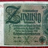 Bancnota Straine - Germania 20 Mark Marci 1929