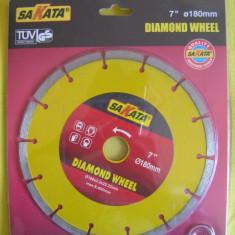 Masina de taiat - FLEX DISC diamantat pentru taiat piatra 180 mm diametru, marmura, bazalt, granit, asfalt