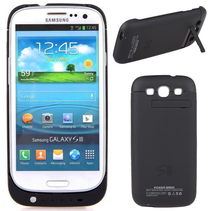 Carcasa cu acumulator  / baterie extinsa pentru Samsung Galaxy S3 i9300 3200mAh power case foto mare