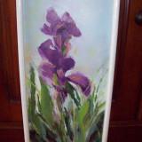 Iris, tablou in ulei pe panza semnat