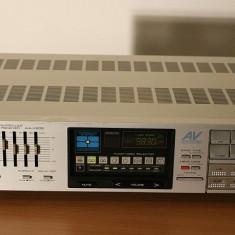 Amplificator audio Akai, 41-80W - Amplificator AKAI AA-V205, argintiu, vintage, raritate