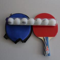 SET COMPUS DIN PALETA TENIS MASA GOLD CUP+ 7 MINGI JOOLA TRAIN MIX - Paleta ping pong