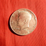 Moneda 0, 5 $ 1964 SUA, argint 0, 900, cal.F.Buna, America de Nord
