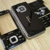 Carcasa Nokia N81 Noua Completa Neagra Negru Rama Fata Geam Mijloc Spate Taste