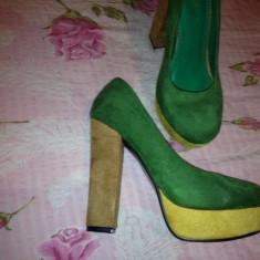 Pantofi dama, Marime: 37, Din imagine - Pantofi cu toc gros