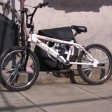 BMX crosswind - Bicicleta BMX, 12 inch, BMX freestyle, Curbat(Risebar), Aliaje de aluminiu, Fara amortizor
