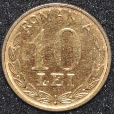 Monede Straine - ROMANIA 10 LEI 1995 PLACATA CU AUR (IN REALITATE ARATA MULT MAI BINE)