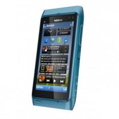 Telefon mobil Nokia N8 - Vand Nokia N8 argintiu, stare foarte buna, 16 GB memorie interna, camera 12 megapixeli, liber de retea.
