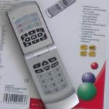 TELECOMANDA UNIVERSALA HEITECH, FORMA TELEFON MOBIL CU CLAPETA