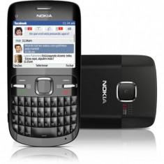 Telefon mobil Nokia C3, Negru, Neblocat - Vand sau schimb nokia c3