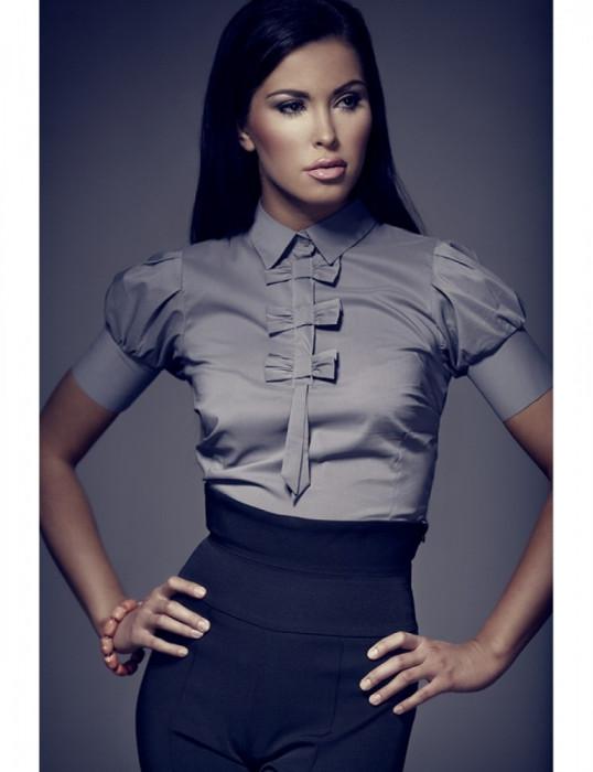 Модные женские блузки (белые, из шифона) - блузки для полных
