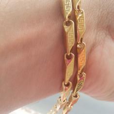 Lantisor placate cu aur - Lant model VERSACE Inox(otel inoxidabil) Placat