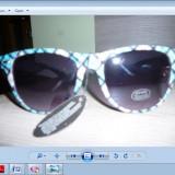 Ochelari de soare 400 uv, Unisex, Negru, Curbati, Plastic, Protectie UV 100%