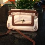 Geanta portofel - Geanta Dama, Geanta plic de mana, Cappuccino, Panza, Mica