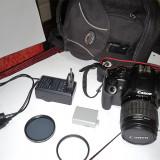 Canon EOS 1000D (cu obiectiv 18-55) + card 4GB + 2 filtre (UV si Polarizare) - DSLR Canon, Kit (cu obiectiv), 10 Mpx