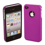 husa aluminiu mov iphone 4 4s + folie protectie ecran + expediere gratuita