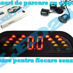 Senzori de Parcare SunTop CU AFISAJ PE LED SI SUNET LCD, ASISTENTA PE 4 DIRECTII