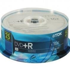 DVD+R TDK, 4, 7GB, bulk, 25buc - 004235