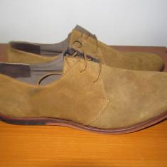 Pantofi piele intoarsa JACK&JONES-PREMIUM - Pantofi barbati Jack & Jones, Marime: 42, Piele naturala, Maro