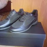 Papuci frau piele noi - Pantofi barbati, Marime: 41, Culoare: Negru, Negru