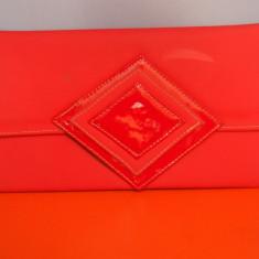 Plic rosu / geanta dama piele ecologica, Geanta plic, Asemanator piele