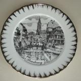 Farfurie DECO portelan - suvenir STRASBOURG, Decorative
