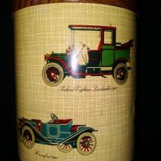 Cutie Reclama - Cutie metalica reprezentand automobile de epoca, de la inceputul anilor 1900