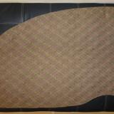 Covertura canapea living cu fire aurii; 260 cm lungime x 96 cm latime maxima