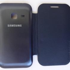Husa Samsung Galaxy Ace Duos S6802 Flip Cover Albastru !!! Folie protectie CADOU !!! - Husa Telefon Samsung, Albastru, Plastic, Carcasa