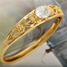 Bratara placate cu aur - Bratara placata cu aur 14k; 12 x 10 mm marime piatra; 20 cm lungime