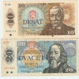 Bancnota Straine, Europa - CEHOSLOVACIA LOT 2 bancnote / 1986.